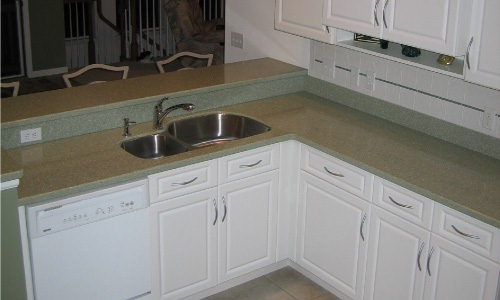 how to make a white concrete countertop